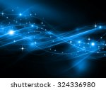 snowflakes and stars blue... | Shutterstock . vector #324336980