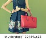 fashionable beautiful big red... | Shutterstock . vector #324341618