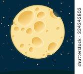 cheese moon. vector template. | Shutterstock .eps vector #324342803