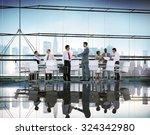 business people meeting... | Shutterstock . vector #324342980
