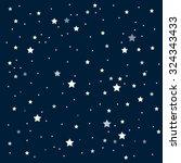 bright star in blue dark night... | Shutterstock .eps vector #324343433