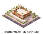 vector isometric icon or... | Shutterstock .eps vector #324344030