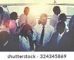 group of multiethnic diverse... | Shutterstock . vector #324345869