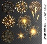 festive golden firework salute... | Shutterstock .eps vector #324347210
