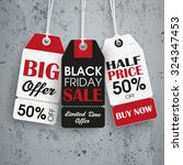black friday price stickers the ... | Shutterstock .eps vector #324347453