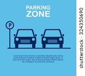 parking zone blue background.... | Shutterstock .eps vector #324350690