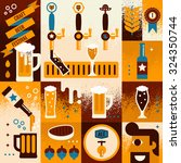 Illustration Of Beer Concept...