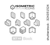 isometric outline icons  3d...
