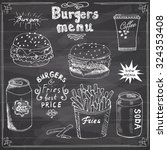 burger menu hand drawn sketch.... | Shutterstock .eps vector #324353408