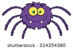 Funny Spider Cartoon Character...