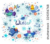 winter vector background of... | Shutterstock .eps vector #324356768
