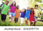 children friendship... | Shutterstock . vector #324359774