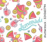 bright and cute watermelon...   Shutterstock .eps vector #324360794