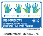 wash your hands signs for kids  ... | Shutterstock .eps vector #324362276