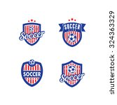vector logo for a soccer ... | Shutterstock .eps vector #324363329