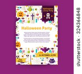 halloween party holiday... | Shutterstock .eps vector #324366848