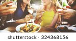 friend friendship dining... | Shutterstock . vector #324368156