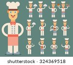 vector illustration of chef.... | Shutterstock .eps vector #324369518