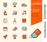lineo colors   school and... | Shutterstock .eps vector #324369788
