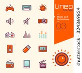 lineo colors   media and... | Shutterstock .eps vector #324369824