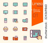 lineo colors   media and... | Shutterstock .eps vector #324369860