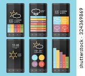 mobile phone infographics in...
