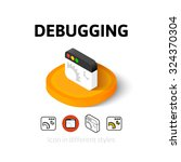debugging icon  vector symbol...