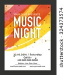 music night party celebration ... | Shutterstock .eps vector #324373574
