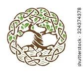 Illustration Of Celtic Tree Of...
