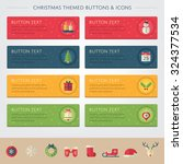 christmas themed buttons and... | Shutterstock .eps vector #324377534