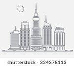 business center of big city... | Shutterstock .eps vector #324378113