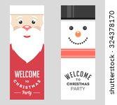christmas party banner | Shutterstock .eps vector #324378170