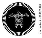sacred geometry   turtle   use... | Shutterstock .eps vector #324385109
