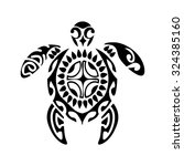 sacred geometry   turtle   use... | Shutterstock .eps vector #324385160