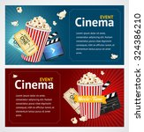 realistic cinema movie poster... | Shutterstock .eps vector #324386210
