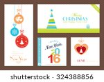 flat  modern christmas and... | Shutterstock .eps vector #324388856