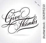give thanks original custom... | Shutterstock .eps vector #324395210