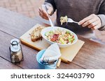 cropped image of a man on his...   Shutterstock . vector #324403790