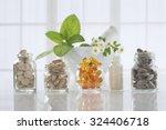 herbal medicine pills and... | Shutterstock . vector #324406718