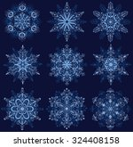 set of snowflakes. | Shutterstock .eps vector #324408158