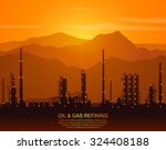 oil refinery or chemical plant... | Shutterstock .eps vector #324408188