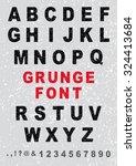 full grunge alphabet | Shutterstock .eps vector #324413684