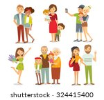 people  couples  parents with... | Shutterstock .eps vector #324415400