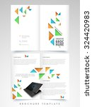abstract glossy brochure ... | Shutterstock .eps vector #324420983