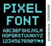 retro computer alphabet. vector | Shutterstock .eps vector #324424949