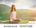 Woman Yoga   Relax In Nature