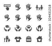 charity and donation icon set ... | Shutterstock .eps vector #324431318