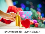 heart shape toy and perfume... | Shutterstock . vector #324438314