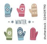 Winter Mittens Set In Soft...