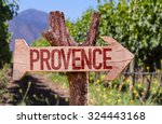 provence wooden sign with... | Shutterstock . vector #324443168
